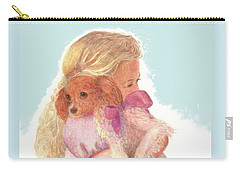 Carry-all Pouch featuring the painting The Hug by Nancy Lee Moran