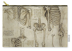 The Human Ribcage Carry-all Pouch by James Christopher Hill