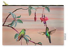 The Hummingbird Fuchsia Carry-all Pouch