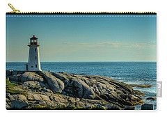 The Iconic Lighthouse At Peggys Cove Carry-all Pouch by Ken Morris