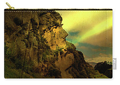 The Inca Face At Ingapirca Carry-all Pouch by Al Bourassa