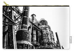 The Industrial Age At Bethlehem Steel In Black And White Carry-all Pouch by Bill Cannon
