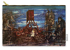 Carry-all Pouch featuring the painting The Inhuman Condition by Reed Novotny