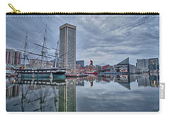 Carry-all Pouch featuring the photograph The Inner Harbor On A Sunday Cloudy Morning by Mark Dodd