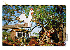 Carry-all Pouch featuring the photograph The Iron Chicken by Linda Unger