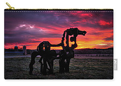 Carry-all Pouch featuring the photograph The Iron Horse Sun Up by Reid Callaway