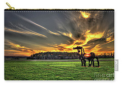Carry-all Pouch featuring the photograph The Iron Horse Sunset by Reid Callaway