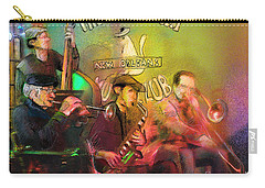 The Jazz Vipers In New Orleans 02 Carry-all Pouch by Miki De Goodaboom