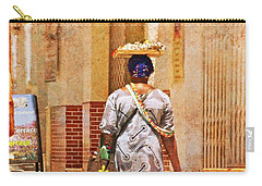 Carry-all Pouch featuring the photograph The Jewelry Seller - Malaga Spain by Mary Machare