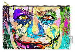 The Joker Grunge Carry-all Pouch by Daniel Janda