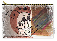 Carry-all Pouch featuring the painting The Journey by Angela L Walker