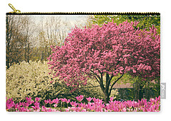 Carry-all Pouch featuring the photograph The Joy Of Tulips by Jessica Jenney