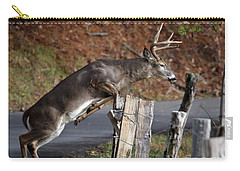 Carry-all Pouch featuring the photograph The Jumper by Douglas Stucky