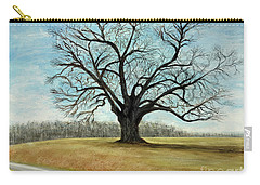 Carry-all Pouch featuring the painting The Keeler Oak by Lyric Lucas
