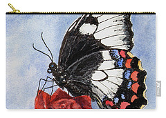 Carry-all Pouch featuring the painting The Keeper Of The Rose by Sam Sidders