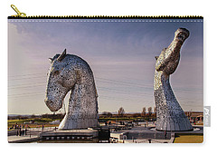Carry-all Pouch featuring the photograph The Kelpies by RKAB Works