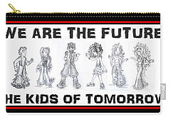 Carry-all Pouch featuring the drawing The Kids Of Tomorrow 1 by Shawn Dall