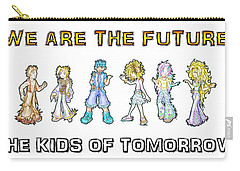 Carry-all Pouch featuring the digital art The Kids Of Tomorrow by Shawn Dall