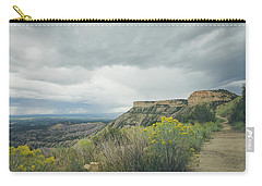 Carry-all Pouch featuring the photograph The Knife's Edge by Margaret Pitcher