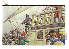 The Knights Of St John Seized Turkey's Finest Galleon, The Sultana Carry-all Pouch by Pat Nicolle