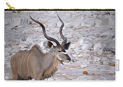 The Kudu In Namibia Carry-all Pouch by Ernie Echols