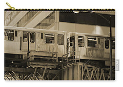 The L Downtown Chicago In Sepia Carry-all Pouch