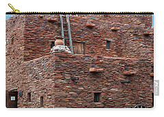 Carry-all Pouch featuring the photograph The Ladders Of The Hopi House by Kirt Tisdale