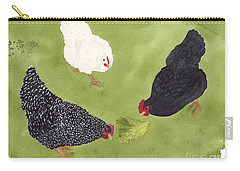 The Ladies Love Salad Three Hens With Lettuce Carry-all Pouch