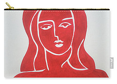 The Lady In Red Erotic Nude Female Woman  Carry-all Pouch