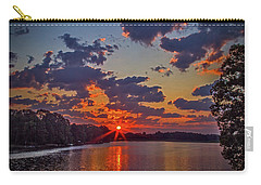 The Lakeshore At Sunrise Carry-all Pouch by Barry Jones