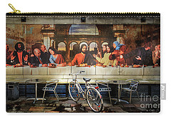 Carry-all Pouch featuring the photograph The Last Bicycle Discussion by Craig J Satterlee