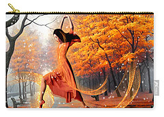 Carry-all Pouch featuring the digital art The Last Dance Of Autumn - Fantasy Art  by Giada Rossi