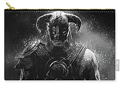 Carry-all Pouch featuring the digital art The Last Dragonborn - Skyrim by Taylan Apukovska