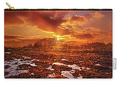 Carry-all Pouch featuring the photograph The Last Pumpkin by Phil Koch