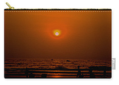 Carry-all Pouch featuring the photograph The Last Rays by Sher Nasser