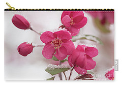 Carry-all Pouch featuring the photograph The Last Snowfall by Ana V Ramirez