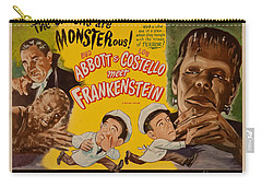 The Laughs Are Monsterous Abott An Costello Meet Frankenstein Classic Movie Poster Carry-all Pouch