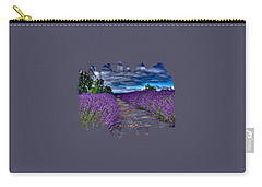 Carry-all Pouch featuring the photograph The Lavender Field by Thom Zehrfeld