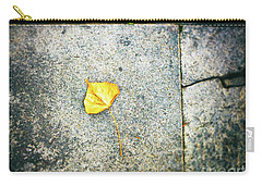 Carry-all Pouch featuring the photograph The Leaf by Silvia Ganora