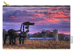 Carry-all Pouch featuring the photograph The Legend Lives On The Iron Horse Art by Reid Callaway