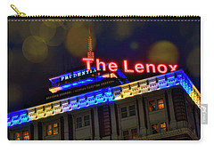 Carry-all Pouch featuring the photograph The Lenox And The Pru - Boston Marathon Colors by Joann Vitali