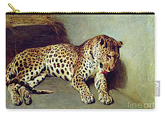 The Leopard Carry-all Pouch by John Sargent Noble