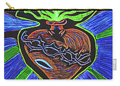 The Light Of The Sacred Heart Carry-all Pouch