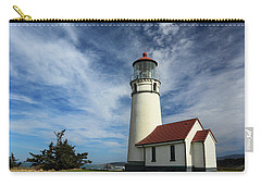 The Lighthouse At Cape Blanco Carry-all Pouch by James Eddy