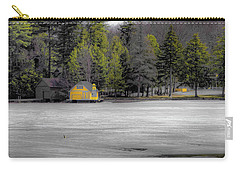 Carry-all Pouch featuring the photograph The Lighthouse On Frozen Pond by David Patterson