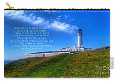 The Lighthouse On The Mull With Poem Carry-all Pouch