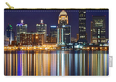 The Lights Of A Louisville Night Carry-all Pouch by Frozen in Time Fine Art Photography