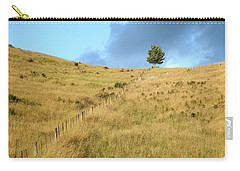 Carry-all Pouch featuring the photograph The Lines The Tree And The Hill by Yoel Koskas