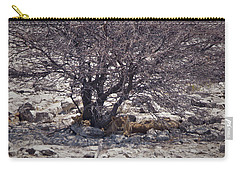The Lion Family Carry-all Pouch by Ernie Echols