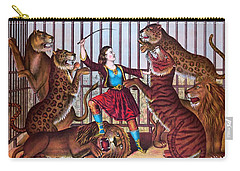 The Lion Queen Print, 1874 Carry-all Pouch